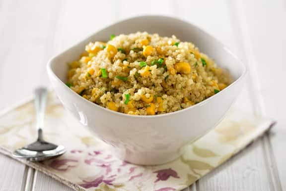 Quinoa pilaf with corn and scallions recipe