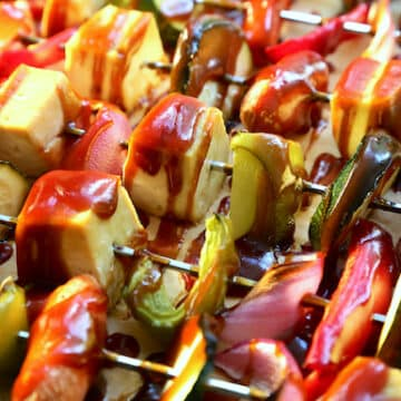 Roasted Tofu and Vegetables in Barbecue Sauce