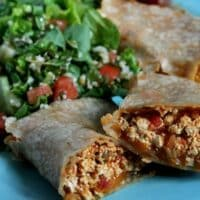 scrambled tofu burrito for lunch or dinner
