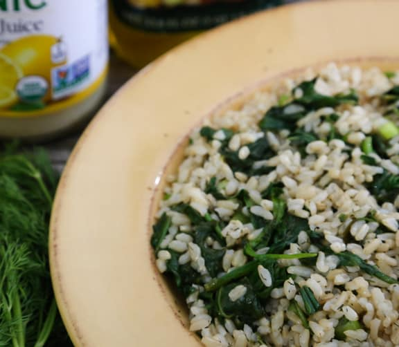 Simple Spinach and Dill Rice Pilaf
