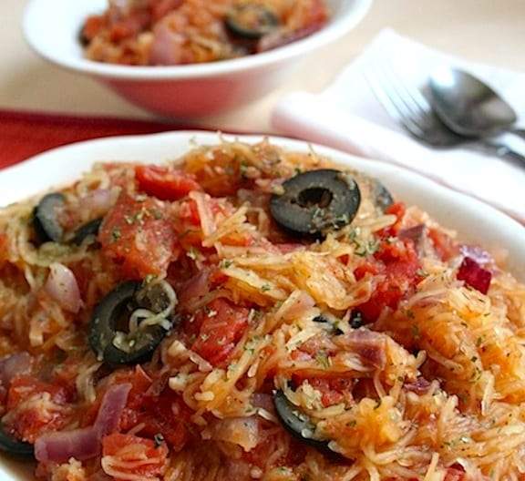Stewed Spaghetti Squash recipe