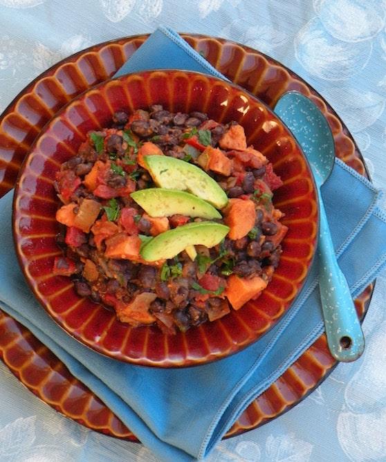 Quick Black Bean and Sweet Potato Chili