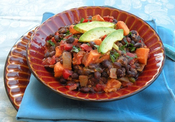 Quick Black Bean and Sweet Potato Chili