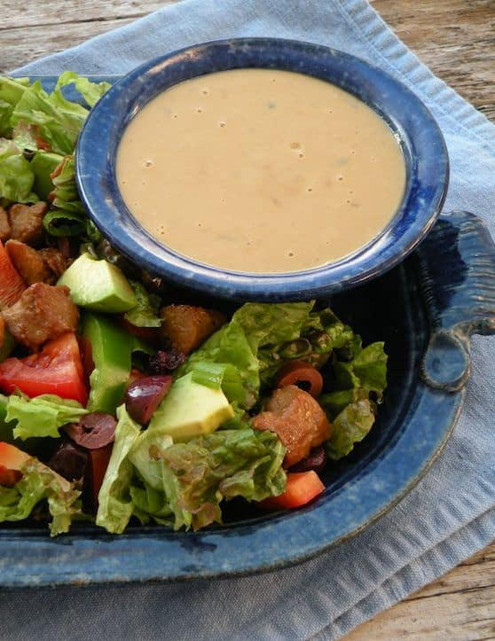 Tangy tahini salad dressing recipe