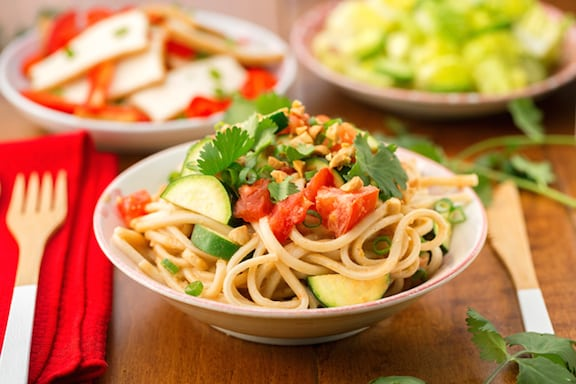 Spicy Asian Peanut-Ginger Noodles