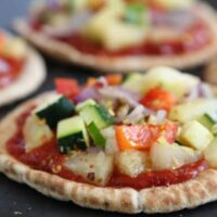 Pineapple and Veggie Pita Pizza