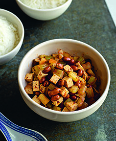 smoked tofu celery and peanuts fuchsia dunlop