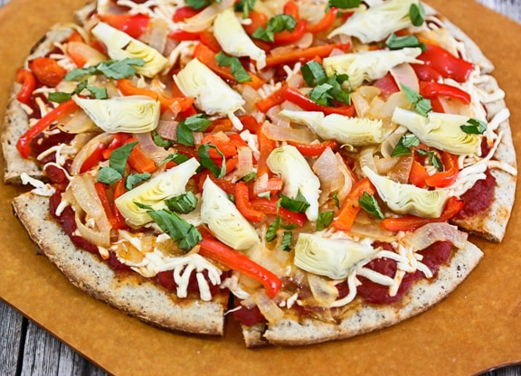 Onion and Artichoke Pizza recipe