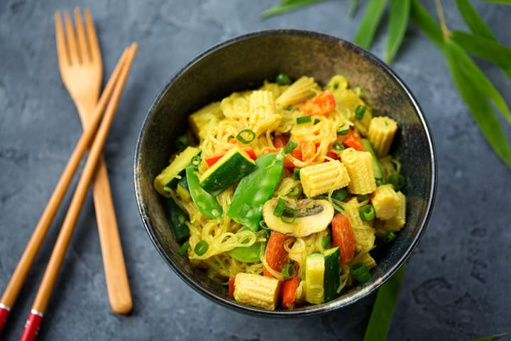 Coconut curry bean-thread noodle