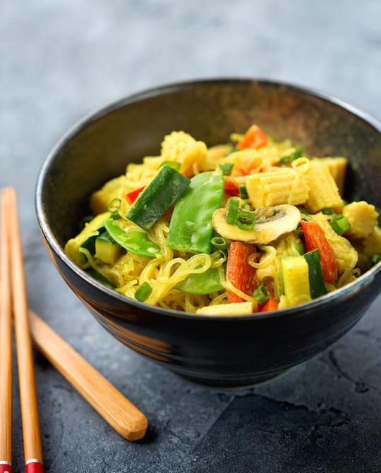 Coconut curry bean-thread noodles recipe