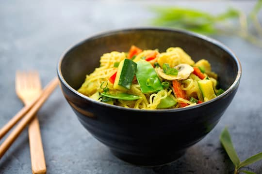 Coconut curry bean thread noodles