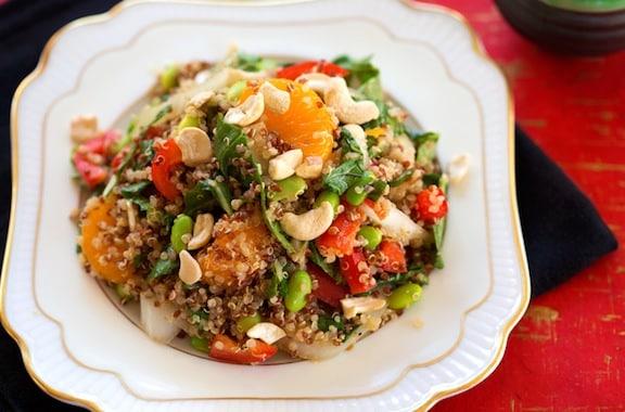 Quinoa with edamame and oranges recipe