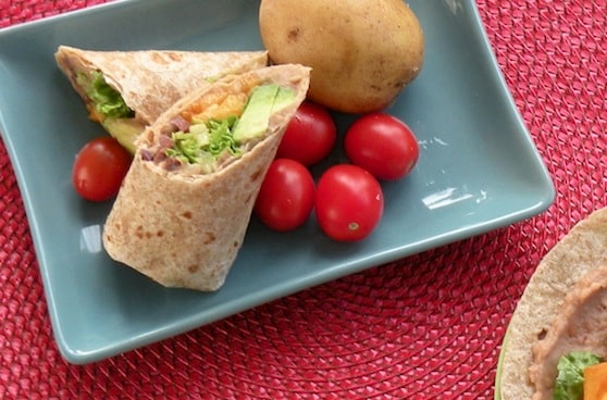 Refried bean wraps