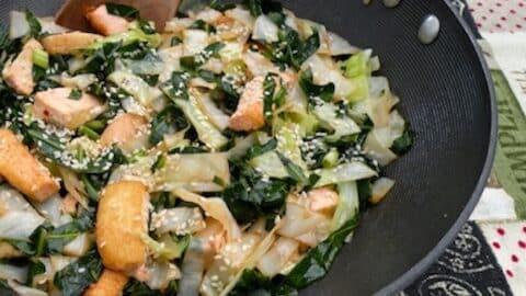 Stir fried kalea nd collards