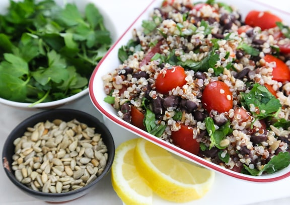 Quinoa and Black Bean Tabbouli