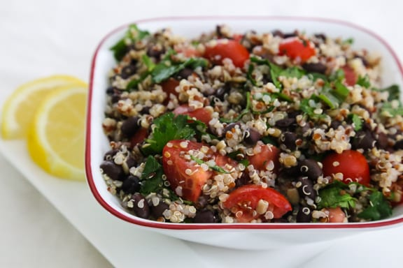 Quinoa and Black Bean Tabbouli salad
