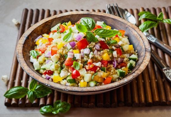 Summer garden quinoa salad