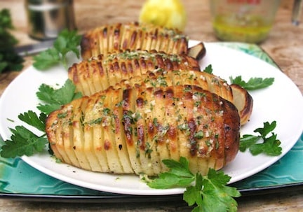Hasselback Potatoes Cooked