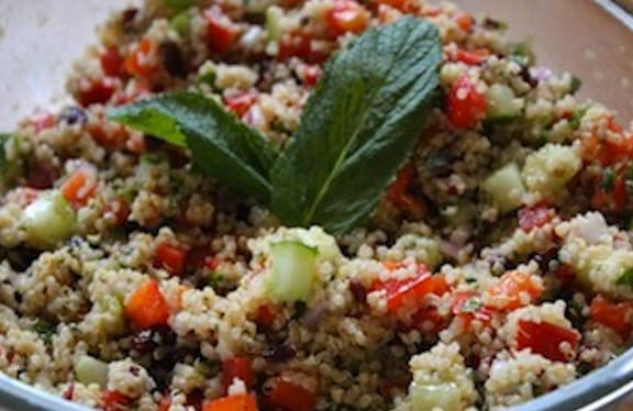 Quinoa and cranberry salad