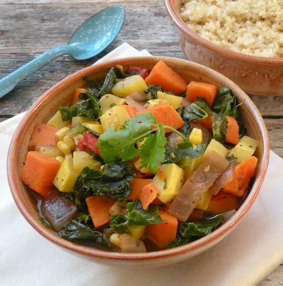 Kale, Yellow Squash, and Sweet Potato Stew recipe 2