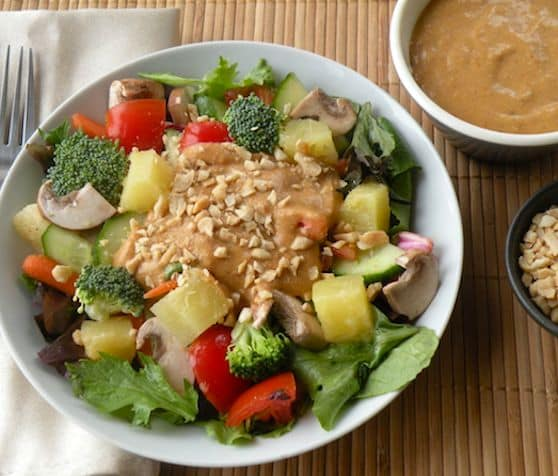 Thai-Style Tossed Salad with Coconut-Peanut Dressing recipe