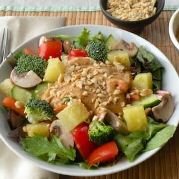 Thai-Style Tossed Salad with Coconut-Peanut Dressing