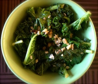 sauteed lemony kale by Sophia Zergiotisfrom Silk and Spice blog