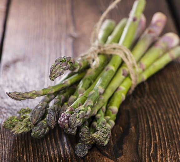 Asparagus on table