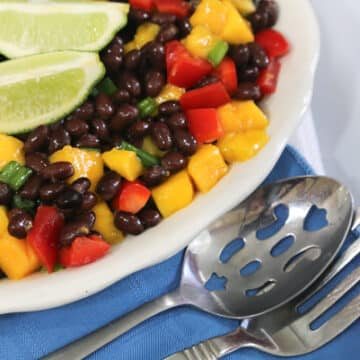Black Bean and Papaya or Mango Salad