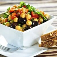 Chickpea tomato olive salad recipe