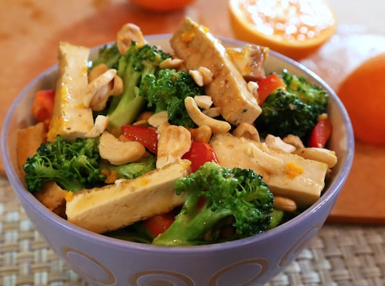 Orange-Glazed Tofu and Broccoli recipe