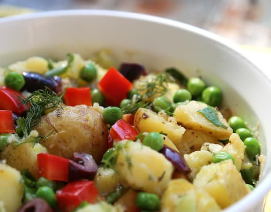 Herbed potato and pea salad recipe