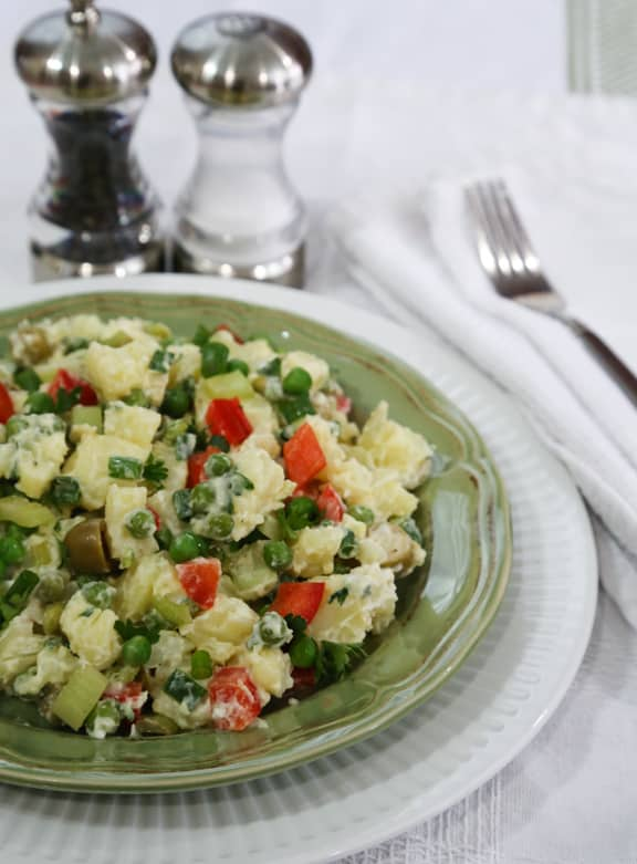 Colorful and Creamy Potato Salad
