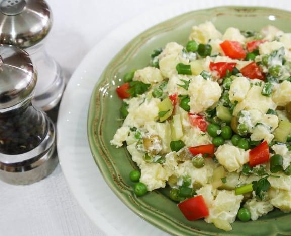 Vegan Colorful and Creamy Potato Salad