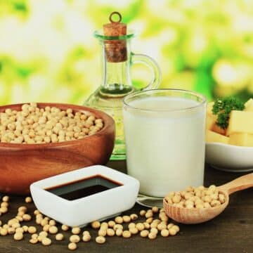 Soy products: soybeans, soy sauce, soy milk, tofu