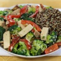 Creamy Tofu and Broccoli Skllet