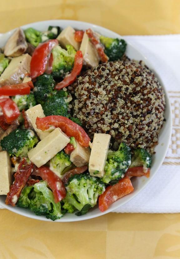 Creamy Tofu and Broccoli Skillet recipe