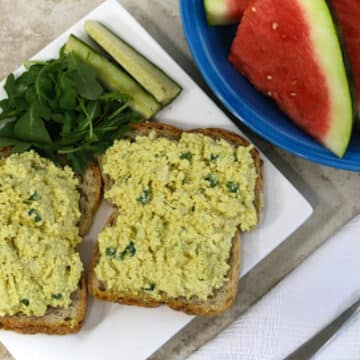 "Tofu eggless ""egg salad"""
