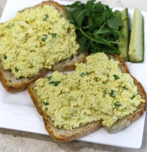 "Vegan Tofu eggless ""egg salad"""