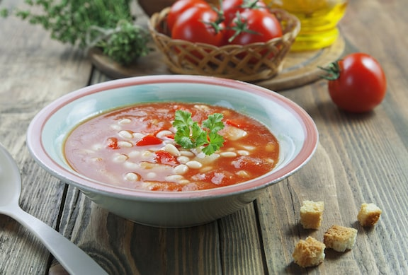 Cold White Bean and Tomato Soup