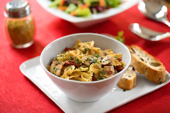 Farfalle with mushrooms3