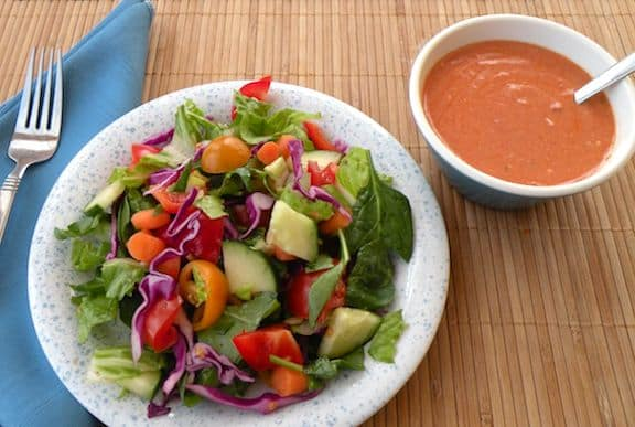 Homemade vegan French dressing