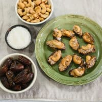 cashew-stuffed dates snack
