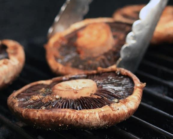 Portobellas on grill