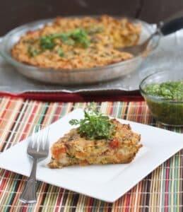 Veggie Frittata Salsa Verde Allyson Kramer Great Gluten-free vegan