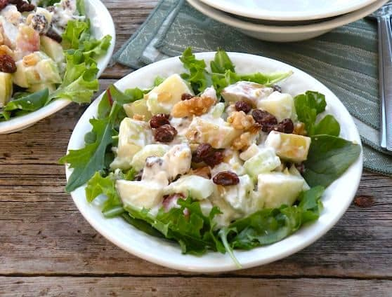 contemporary vegan waldorf salad recipe
