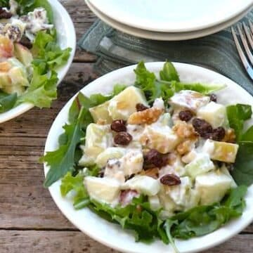 contemporary vegan waldorf salad