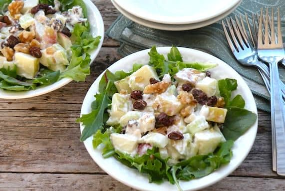 contemporary vegan waldorf salad