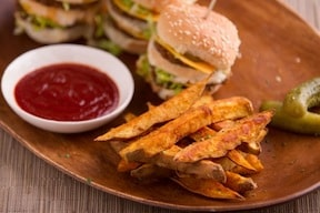 sweet potato fries by brian patton from sexy vegan's happy hour