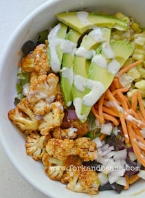 BBQ cauliflower salad Cara Reed